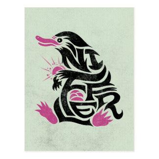 Graphique de typographie de Niffler Cartes Postales