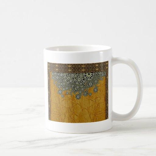 Graphique décoratif des mondes antiques tasse