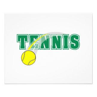 graphique des textes de tennis prospectus 11,4 cm x 14,2 cm