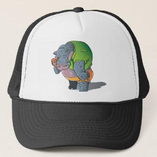 Graphique d'hippopotame casquette