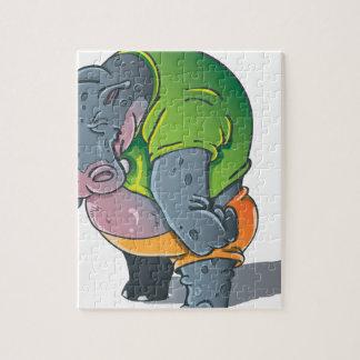 Graphique d'hippopotame puzzle