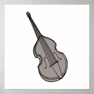 Graphique droit de guitare basse de violon posters
