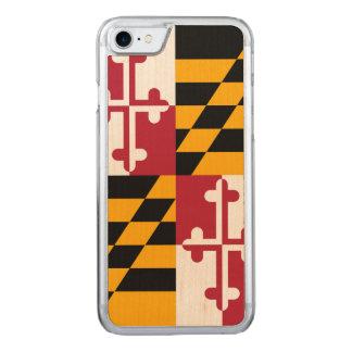 Graphique dynamique de drapeau d'état du Maryland Coque Carved iPhone 8/7