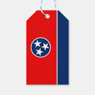 Graphique dynamique de drapeau d'état du Tennessee Étiquettes-cadeau