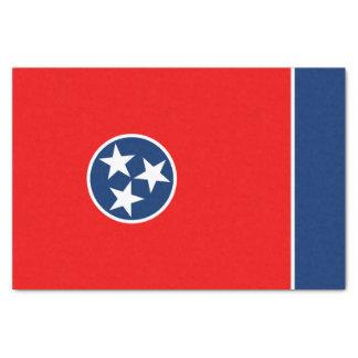 Graphique dynamique de drapeau d'état du Tennessee Papier Mousseline