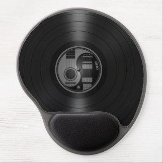 Graphique gris et noir de vinyle de guitares de Yi Tapis De Souris Gel