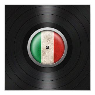Graphique italien d'album de disque vinyle de faire-part personnalisés