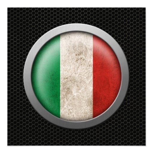 Graphique italien de disque de drapeau de maille e bristol personnalisé
