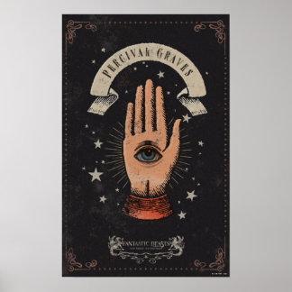 Graphique magique de main de tombes de Perceval Posters