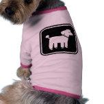 Graphique mignon de caniche t-shirt pour animal domestique