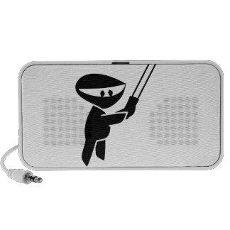 graphique mignon de ninja haut-parleur mp3