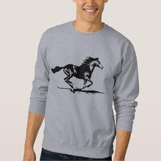 Graphique noir de cheval d'étalon sweatshirt