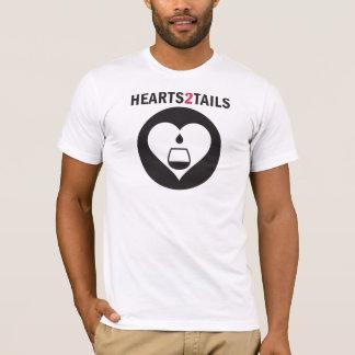 Graphique noir de Hearts2Tails avec la pièce en t T-shirt