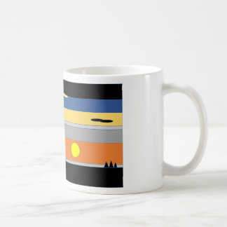 graphique original de coucher du soleil mug blanc