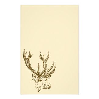 Graphique principal d'illustration de cerfs papeterie
