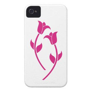 Graphique rose de tulipe coques iPhone 4