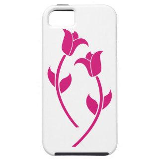 Graphique rose de tulipe coque Case-Mate iPhone 5
