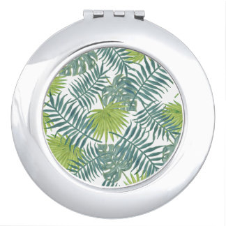 Graphique tropical d'art de palmettes de plage miroirs de maquillage