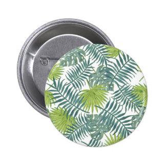 Graphique tropical d'art de palmettes de plage pin's