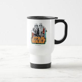 Graphique vintage brutal mug de voyage en acier inoxydable
