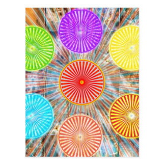 Graphiques de thérapie de couleur : Énergie curati Cartes Postales