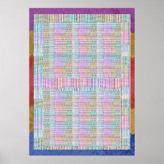 GRAPHIQUES simples - fils étonnants de tissu de re Poster