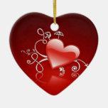Graphisme de Saint-Valentin - Ornement Cœur En Céramique