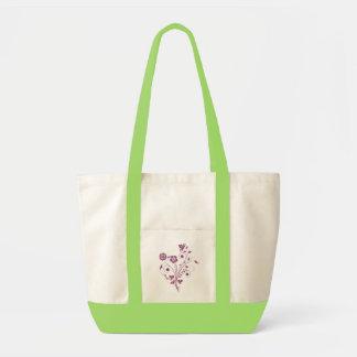 Graphisme fleurs mauves (3) sacs