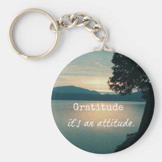 Gratitude : C'est une citation d'attitude Porte-clé Rond