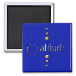 Gratitude de bloc d'or de 3 points et arrière - pl magnet carré