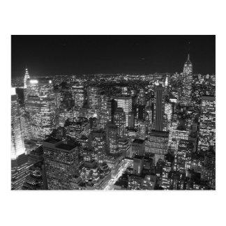 Gratte-ciel noirs et blancs de New York Carte Postale