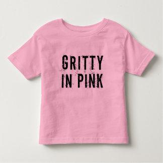 Graveleux dans le rose - rose fin de T-shirt du