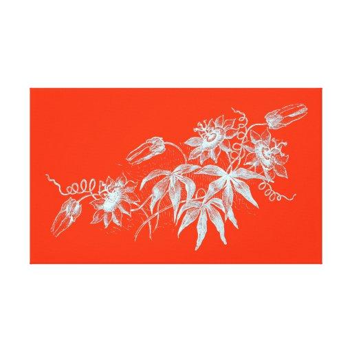 gravure l 39 eau forte de fleur de passion dans le toile tendue sur ch ssis zazzle. Black Bedroom Furniture Sets. Home Design Ideas