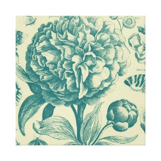 Gravure à l'eau-forte florales toiles