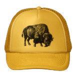 Gravure du bois vintage de bison américain de Buff Casquettes De Camionneur