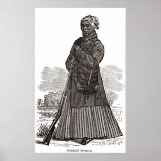 Gravure sur bois en Harriet Tubman Affiches