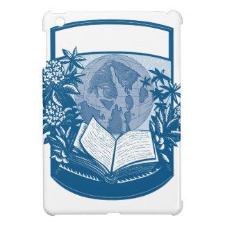 Gravure sur bois en livre d'île d'orques de coque pour iPad mini