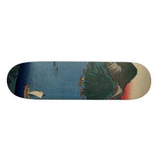 Gravure sur bois japonaise #1 skateboard old school  21,6 cm