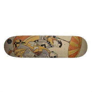 Gravure sur bois japonaise #2 plateaux de skateboards customisés