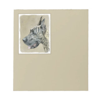 Great dane (Brindle) Blocs Notes