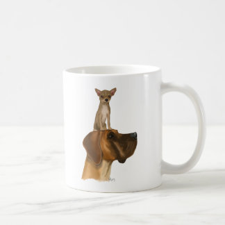Great dane et chiwawa mug