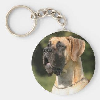 Great dane - fawn dogue allemand - jaune porte-clé