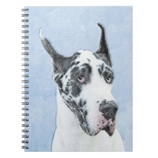 Great dane (harlequin) carnet