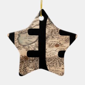 greece1630 ornement étoile en céramique