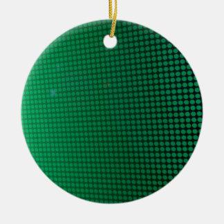 green halo ornement rond en céramique