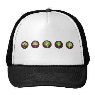 GreenDotTrees3 Casquette De Camionneur
