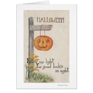 GreetingJack-O-Lanterne de Halloween sur le Carte De Vœux