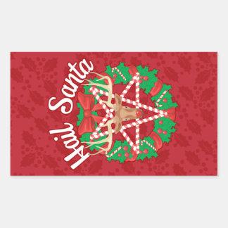 Grêle Père Noël ! Sticker Rectangulaire