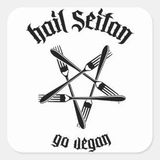 Grêle Seitan 1,1 (noir) Sticker Carré