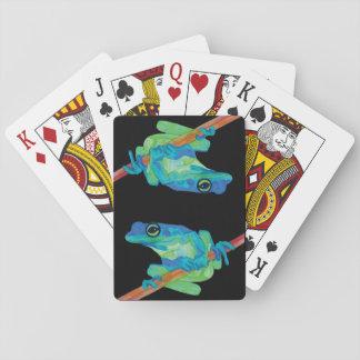 Grenouille bleue cartes à jouer